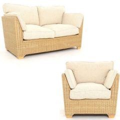 Skipton Natural Rattan 5 Piece Suite