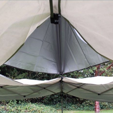 Namib Pop-up Gazebo - attach the outer roof canopy after the central section