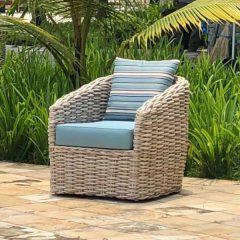Poole Rattan Garden Chair Plus Outdoor Cushions