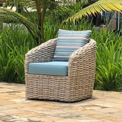 Poole Rattan Garden Chair Plus Outdoor Cushions