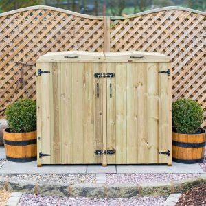 Single Wheelie Bin - Recycling Box Store - Front - Doors closed