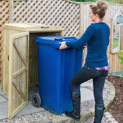 Superior Single Wheelie Bin Storage Unit Easy Access