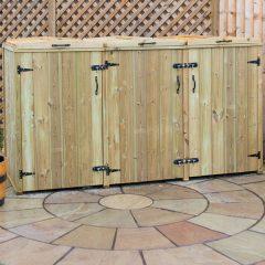 Superior Triple Wheelie Bin Storage Unit