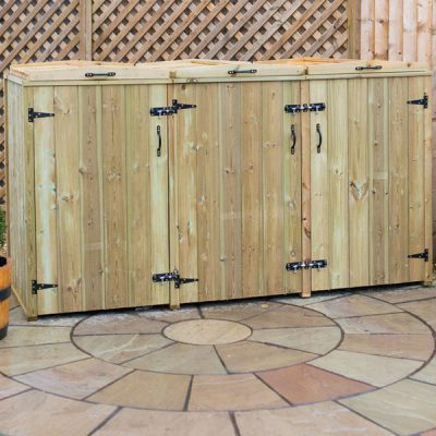 Superior Triple Wheelie Bin Storage Unit