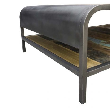 Beachcomber Recycled Boat Wood Coffee Table Large - End Close up 2