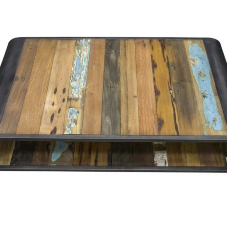 Beachcomber Recycled Boat Wood Coffee Table Large - Top