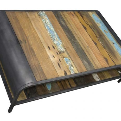 Beachcomber Recycled Boat Wood Coffee Table Large from above