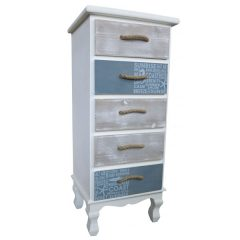 Beachcomber Wooden 5 Drawer Chest 780mm