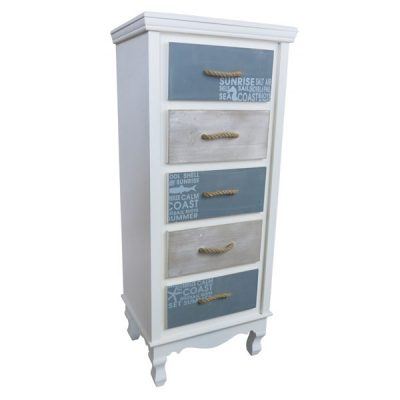 Beachcomber Wooden 5 Drawer Chest 965mm