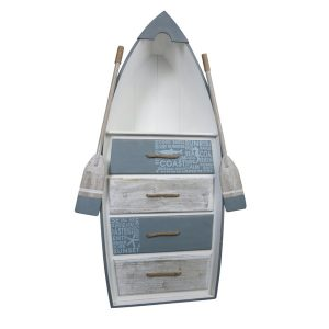 Beachcomber Wooden Rowing Boat 4 Drawer Chest 1330mm