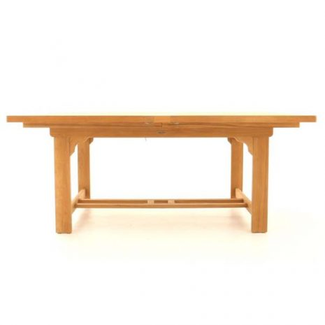 Constable Extending Teak Dining Table 180cm to 240cm - Side view