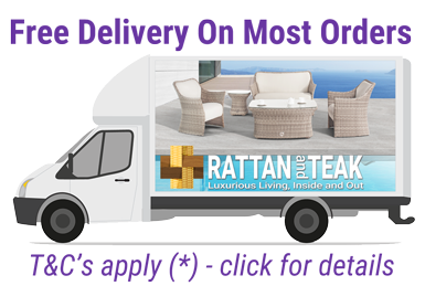 Rattan and teak provide Free Delivery on Most Orders