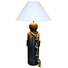 Dock Post Fishermans Rope Lamp Plus Shade