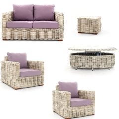 Poole 5 Piece Rattan Garden Furniture Suite