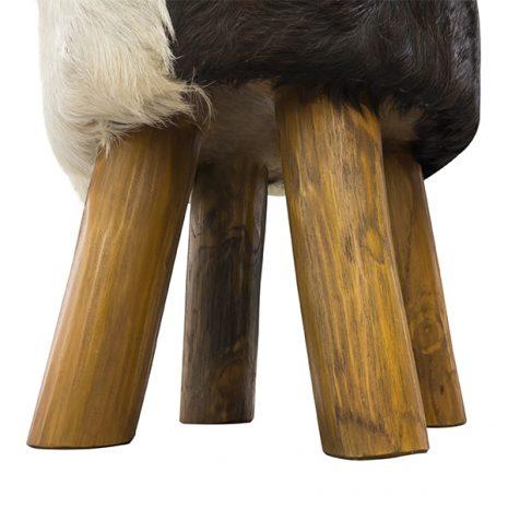 ROUND_GOAT_SKIN_STOOL_Legs close up