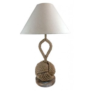 Rope Knot Table Lamp Plus Shade