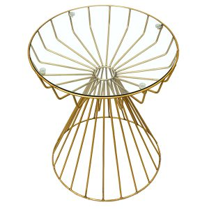 SONGBIRD_Gold Metal SIDETABLE_TOPDOWN