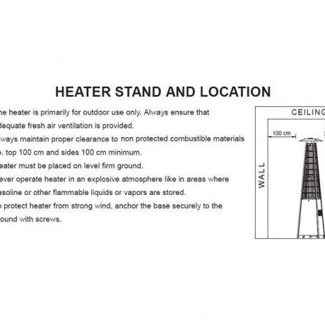 Tambora Patio Heater Stand and Location