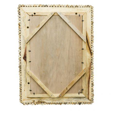 Beachcomber Driftwood Mirror Rectangular - Back