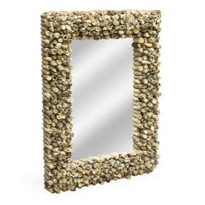Beachcomber Medium Rectangular Driftwood Mirror 80cm