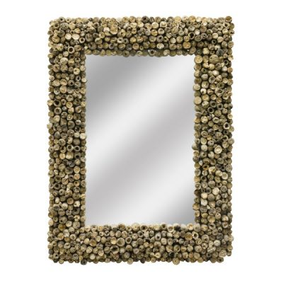 Beachcomber Rectangular Driftwood Mirror 80cm Face on