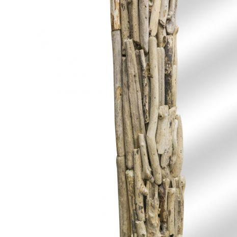 Beachcomber Rectangular Driftwood Sticks Mirror 80cm Frame close up