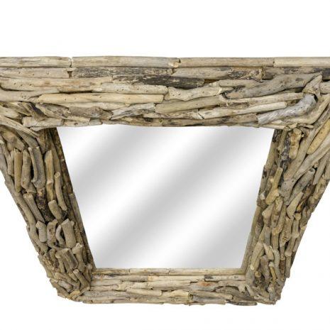Beachcomber Rectangular Driftwood Sticks Mirror 80cm top down