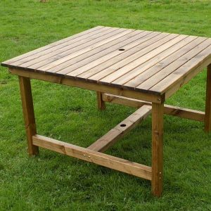 Bronte 115cm Square Garden Dining Table Sustainable Wood
