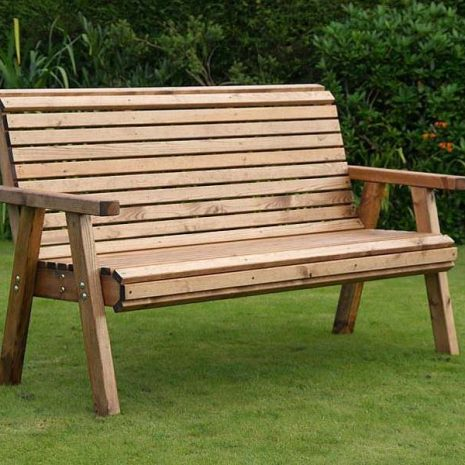 Bronte High Back Garden Bench 3 Seater 157cm flat packed