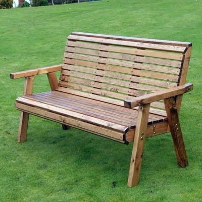 Bronte High Back Garden Bench 157cm 3 Seater 157cm flat packed Sustainable Wood