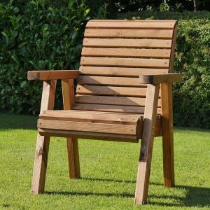 Bronte High Back Garden Chair Sustainably Sourced Wood - Flat packed