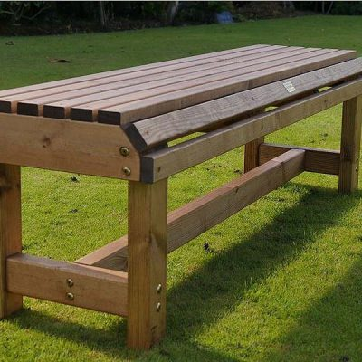 Bronte Large Backless Bench 142cm Sustainable Wood British Made