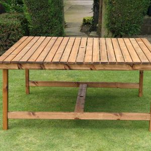 Bronte Large Square Garden Dining Table 168cm Sustainable Wood