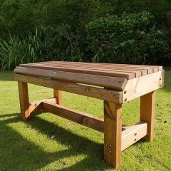 Bronte Medium Backless Bench 94cm Sustainable Wood British Made. Also available in a Backless Bench Set