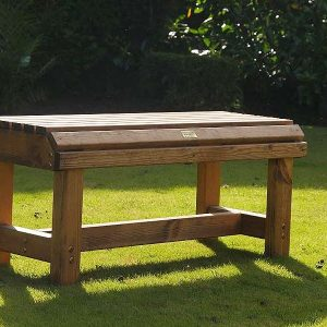 Bronte Medium Backless Bench 94cm Sustainable Wood British Made