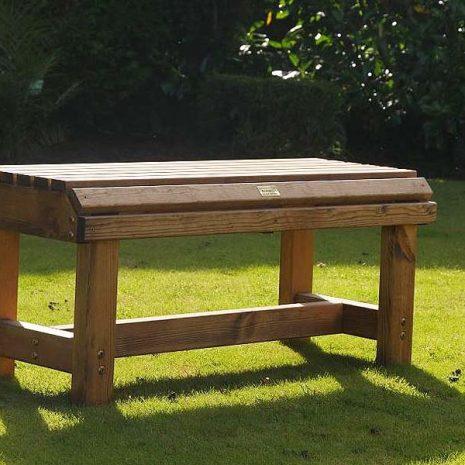 Bronte Medium Backless Bench 94cm Sustainable Wood British Made
