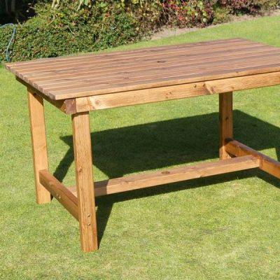Bronte Medium Rectangular Dining Table 135cm Sustainably Sourced Scandinavian Redwood
