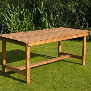 Bronte Rectangular Garden Dining Table 180cm Sustainable Wood