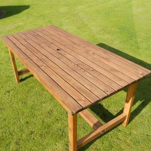 Bronte Large Rectangular Garden Dining Table 180cm Sustainable Wood - top view