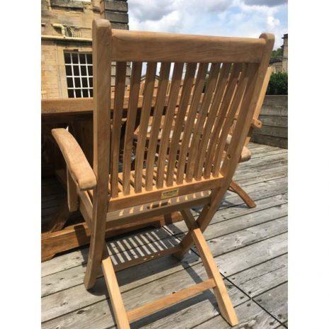 Gainsborough Folding Teak Armchairs - Rear View