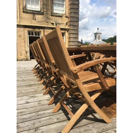 Gainsborough Folding Teak Armchairs - Side View