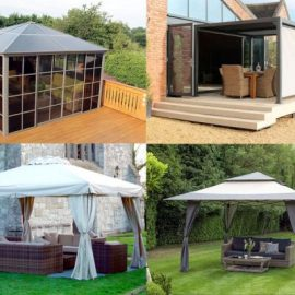 Rattan And Teak Gazebo & Screen House range