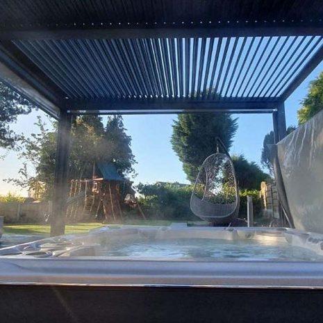 Mojave 300cm x 360cm Gazebo Hot Tub Shelter Shuttered Roof