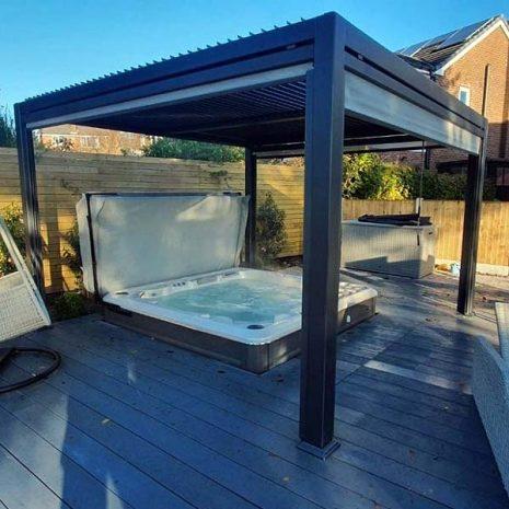 Mojave 300cm x 360cm Metal Gazebo Hot Tub Shelter