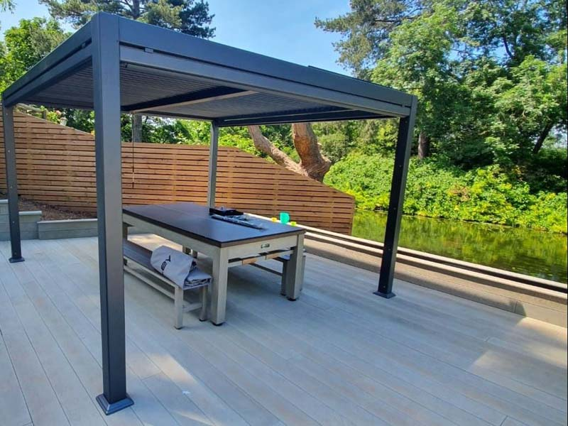 Mojave Aluminium Gazebo without side screens