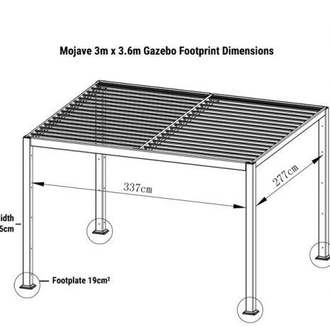 Mojave Gazebo 300cm x 360cm Floor plan