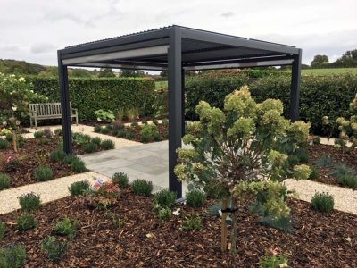Mojave Metal Gazebo 350cm x 360cm + Side Screens