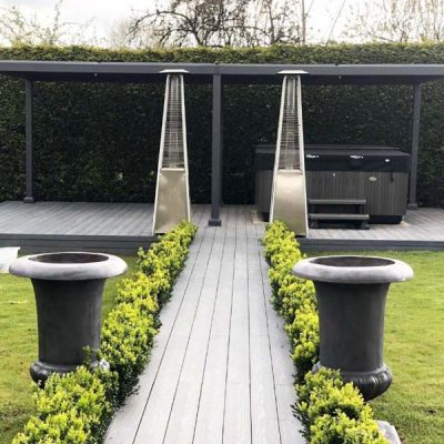Mojave Metal Gazebo 350cm x 720cm - Hot tub screen