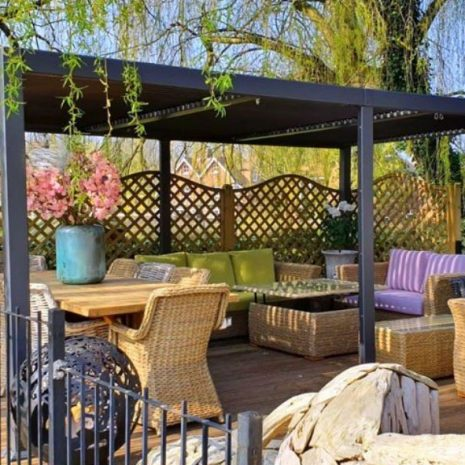 Mojave-Metal-Gazebo-Silver-Grey-Aluminium-5.4x3.6-Six-Legs_Front-View-With-Bude-Furniture