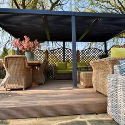 Mojave-Metal-Gazebo-Silver-Grey-Aluminium-5.4x3.6-Six-Legs_Front-View-With-Bude-Furniture1